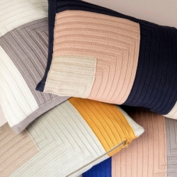 Angle Knit Cushion - Curry - Ferm Living