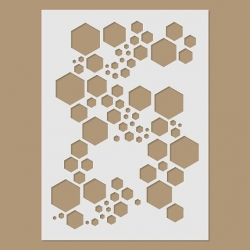 Super hexagon stencil by Stencil Direct