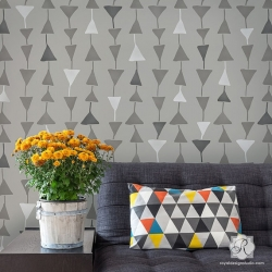 large geometrica triangolo by Royal Design Stencils