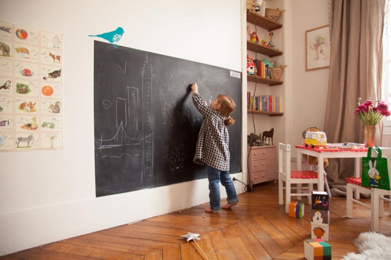 Parete Lavagna Cameretta : Lavagna e pittura effetto lavagna tante idee per la casa cobimbo