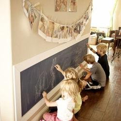 kids-writing-on-chalkboard-wall