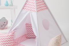 Teepee Wigiwama bianco e rosa